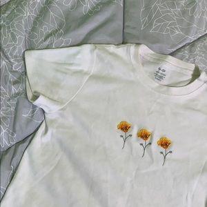 Brandy Melville Yellow Flowers Shirt
